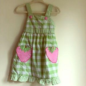 Strawberry gingham dress